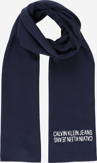 Calvin Klein Jeans Schal in nachtblau / weiß, Produktansicht