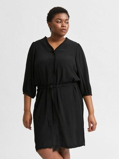 Selected Femme Curve Obleka 'SLFMIRA'   črna barva: Frontalni pogled