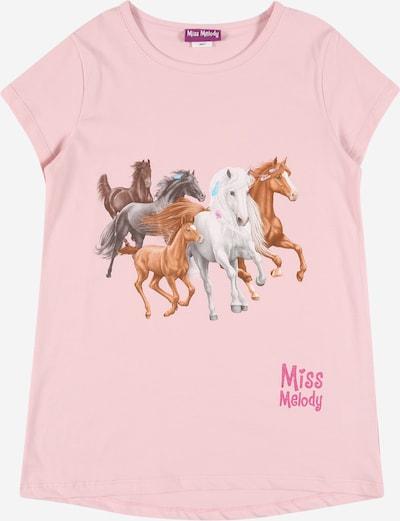 Miss Melody T-Shirt en marron / brun foncé / gris chiné / rose / rose clair, Vue avec produit