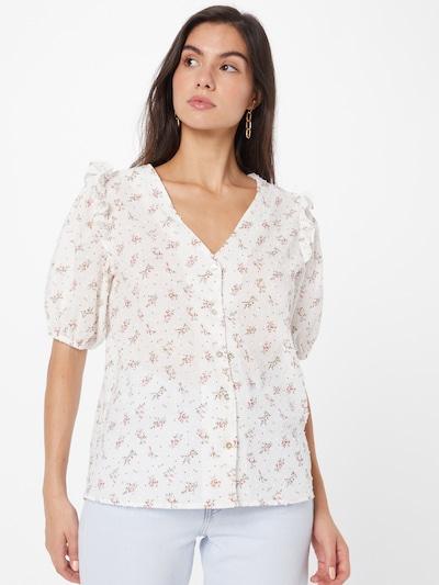SISTERS POINT Bluse 'ESILA' in braun / grün / rosa / naturweiß, Modelansicht