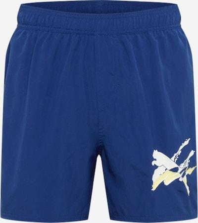 PUMA Pantalon de sport en bleu / blanc, Vue avec produit