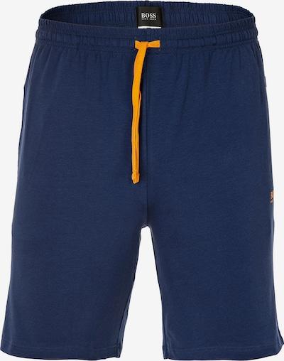 BOSS Casual Broek in de kleur Navy / Sinaasappel, Productweergave