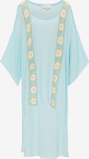 usha FESTIVAL Tunique en crème / bleu clair / vert clair / rose clair, Vue avec produit