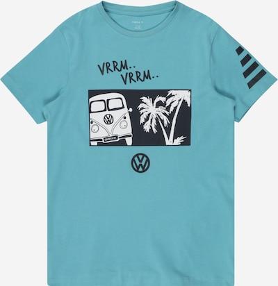 NAME IT Shirt 'LINUS' in de kleur Turquoise / Nachtblauw / Wit, Productweergave