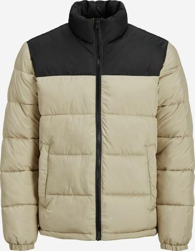 JACK & JONES Winterjas in de kleur Lichtbeige / Zwart, Productweergave