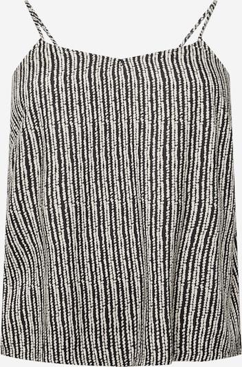 Top 'MILLE' ONLY Carmakoma pe negru / alb, Vizualizare produs
