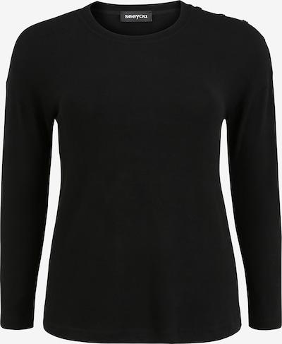 seeyou Pullover mit Rundhalsausschnitt in schwarz, Produktansicht