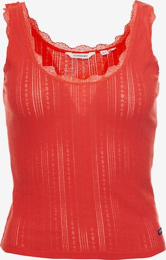 Superdry Top in rot, Produktansicht