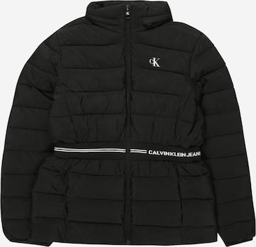 Calvin Klein Jeans Between-Season Jacket 'Intarsia' in Black