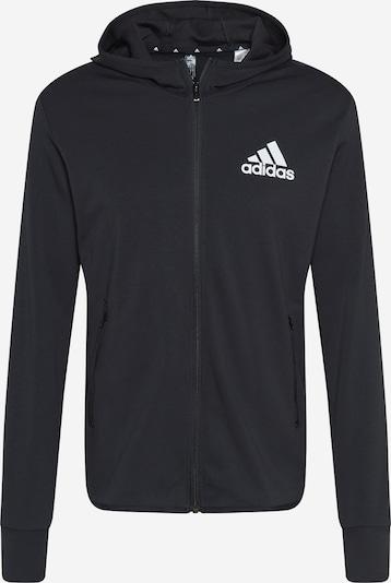 ADIDAS PERFORMANCE Urheilullinen collegetakki värissä musta / valkoinen, Tuotenäkymä