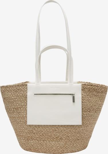 Marc O'Polo Shopper 'Lica' in beige / weiß, Produktansicht
