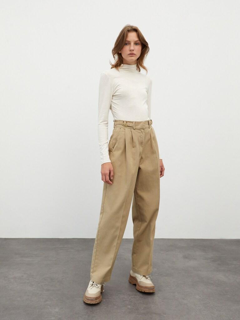 Bandplooi jeans 'Chiara'