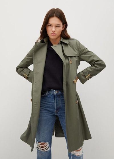 MANGO Mantel 'Polana' in khaki, Modelansicht
