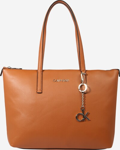 Calvin Klein Nákupní taška - koňaková / stříbrná, Produkt