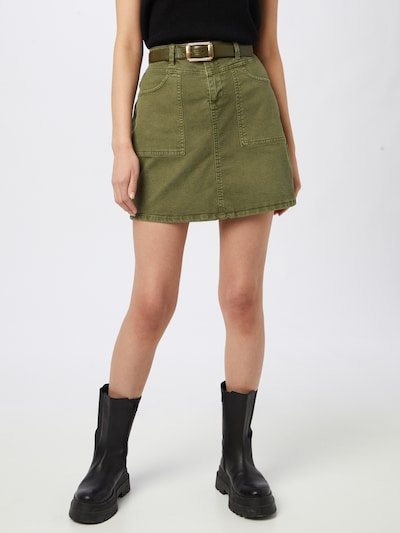 EDC BY ESPRIT Skirt in Khaki: Frontal view