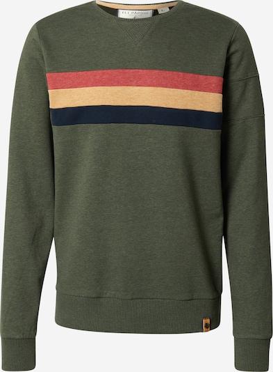 Fli Papigu Sweatshirt 'Gaat de Bak' in navy / dunkelgrün / pastellorange / pastellrot, Produktansicht