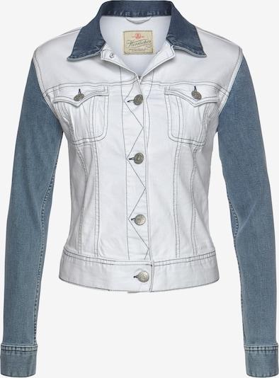 Herrlicher Jeansjacke in blau / weiß, Produktansicht
