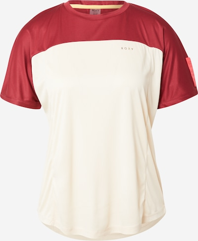 ROXY Performance Shirt 'EARTH GANG' in Cream / Blood red, Item view