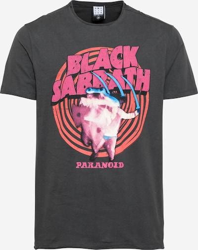 AMPLIFIED T-Shirt en gris foncé / saumon / fuchsia / rose, Vue avec produit