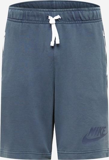 Nike Sportswear Sportske hlače u tamo siva / bijela, Pregled proizvoda