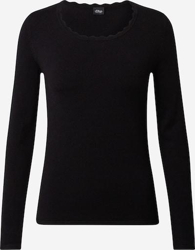 s.Oliver BLACK LABEL Pullover i sort, Produktvisning