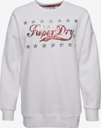 Superdry Sweatshirt 'Boutique Real Classics' in rot / silber / weiß, Produktansicht