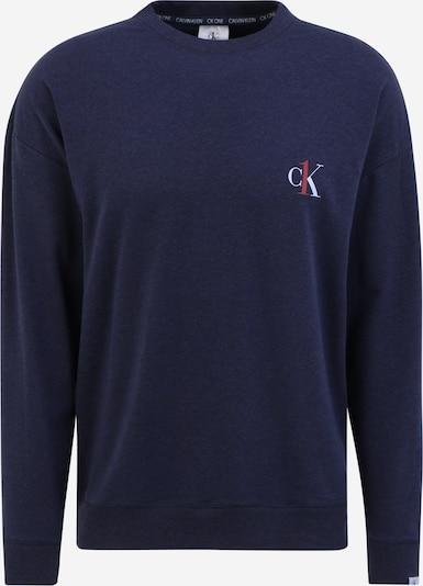 Bluză de noapte Calvin Klein Underwear pe albastru închis / roșu / alb, Vizualizare produs