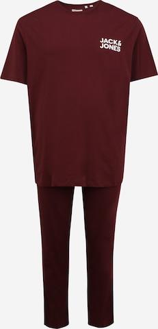 Jack & Jones Plus Дълга пижама в червено