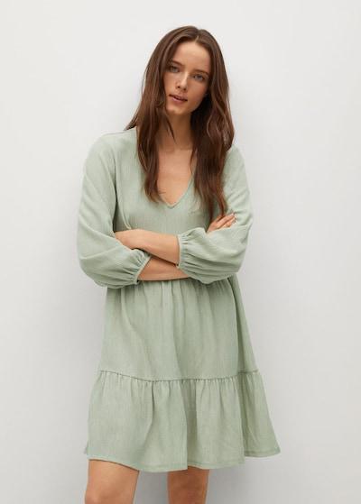 MANGO Kleid 'Pati' in neongrün, Modelansicht