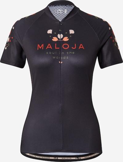 Maloja Sportshirt 'Rubinie' in mischfarben / schwarz, Produktansicht