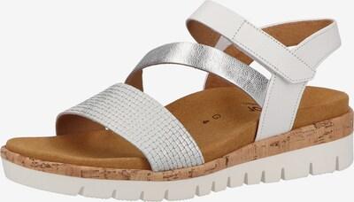 GABOR Sandale in silber / weiß, Produktansicht
