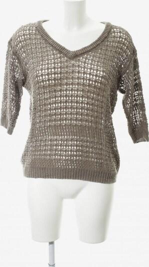 MANGO V-Ausschnitt-Pullover in S in hellbraun: Frontalansicht