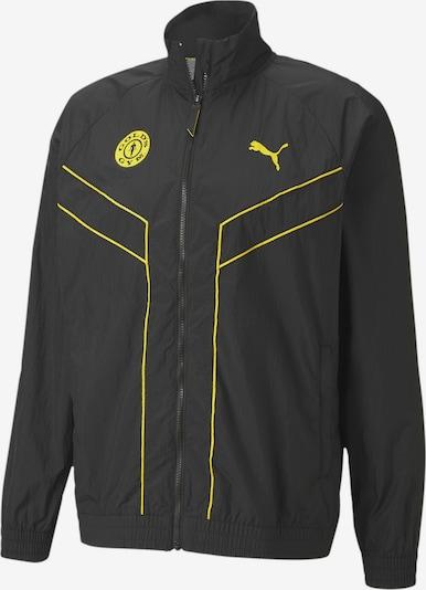 PUMA Sportjas in de kleur Geel / Zwart, Productweergave