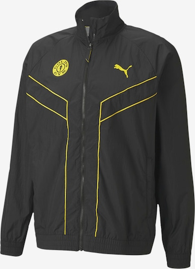 PUMA Trainingsjacke in gelb / schwarz, Produktansicht