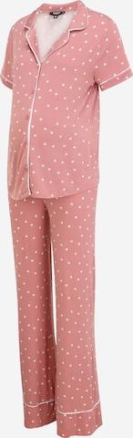 Missguided Maternity Piżama w kolorze różowy