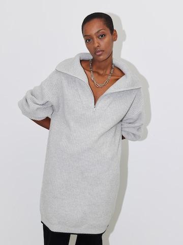 LeGer by Lena Gercke Knitted dress 'Mette' in Grey