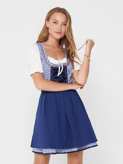 ONLY Dirndl en bleu clair / bleu foncé / blanc, Vue avec modèle