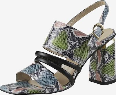heine Sandalette in beige / blau / dunkelgrün / mischfarben, Produktansicht