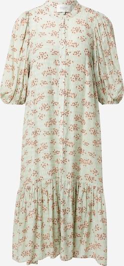 Rochie tip bluză 'Pune' SECOND FEMALE pe verde deschis / corai / negru, Vizualizare produs