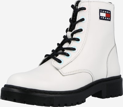 Tommy Jeans Stiefel in navy / rot / offwhite, Produktansicht