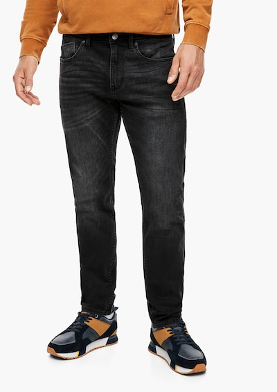 s.Oliver Jeans 'Keith' in black denim, Modelansicht