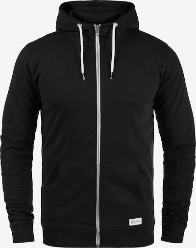 !Solid Sweatjacke 'Tambo' in schwarz / weiß, Produktansicht