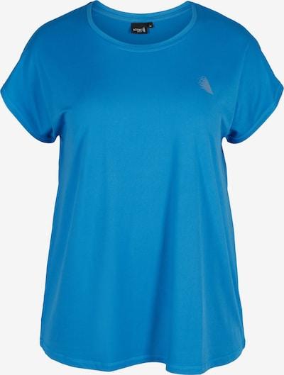 Active by Zizzi T-Shirt 'Abasic' in blau, Produktansicht