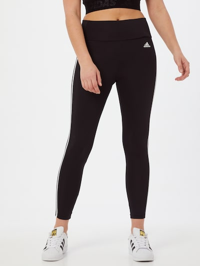 Pantaloni sport ADIDAS PERFORMANCE pe negru / alb, Vizualizare model