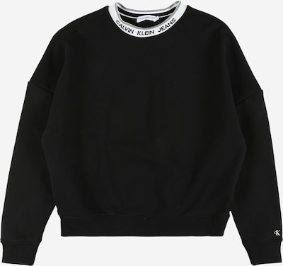 Calvin Klein Jeans Суичър в черно / бяло, Преглед на продукта