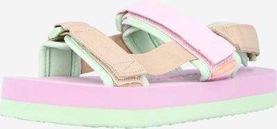 VERO MODA Sandales de randonnée 'Lia' en camel / menthe / rose pastel, Vue avec produit