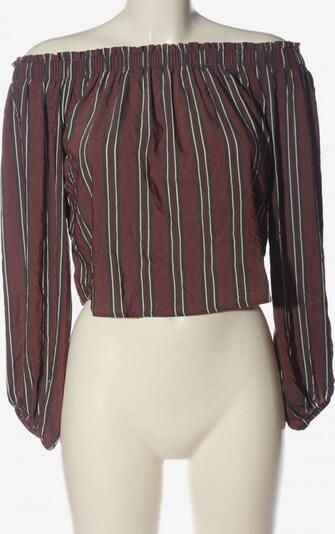Pull&Bear Carmen-Bluse in S in rot / schwarz / weiß, Produktansicht