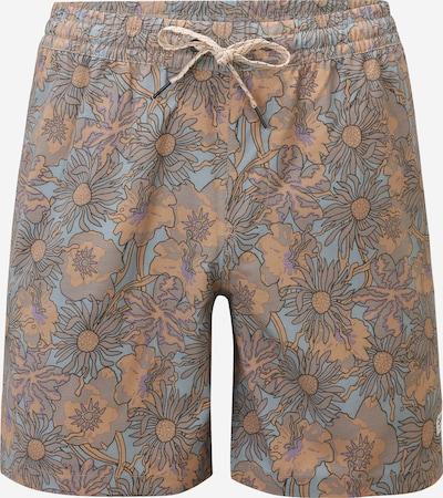 QUIKSILVER Shorts de bain 'ENDLESS TRIP' en bleu pastel / noisette / anthracite / violet, Vue avec produit