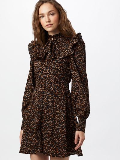 Fashion Union Kleid 'ROMANCE' in cognac / schwarz, Modelansicht