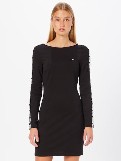 Tommy Jeans Šaty - čierna / biela, Model/-ka